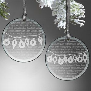 """This """"Family Circle"""" Glass Ornament is STUNNING! PersonalizationMall has over 300 Personalized Christmas Ornaments and they're all on sale right now! You can personalize this ornament for only $11.20 right now! #Christmas #Ornament #Sale"""