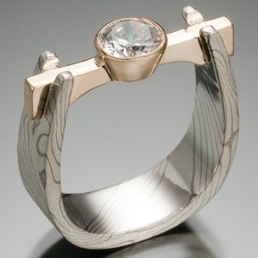 Chris Ploof Designs | Flat Beam Setting, with .75 Carat Diamond