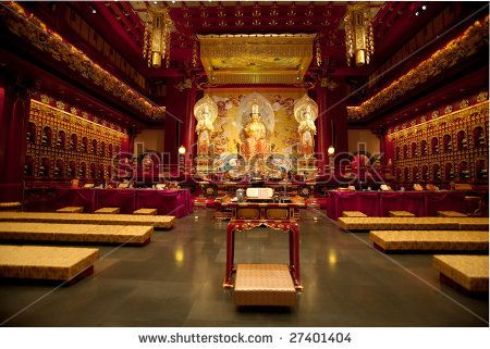 Interior of a Buddhist temple with many statues by Tyler Olson, via ShutterStock ( http://www.shutterstock.com/pic-27401404/stock-photo-interior-of-a-buddhist-temple-with-many-statues.html, 2013 )