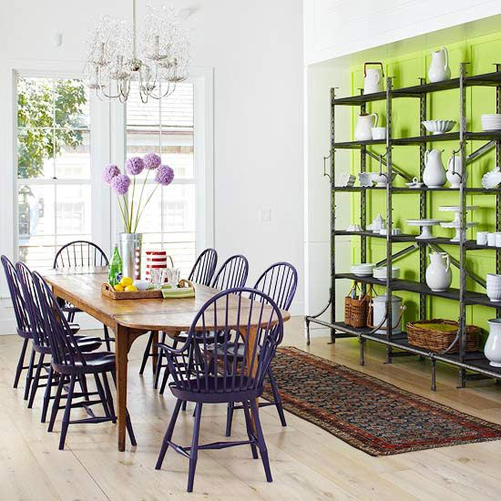 Decorating With Green Walls Accents And Accessories Purple ChairWood TablesTable ChairsDining