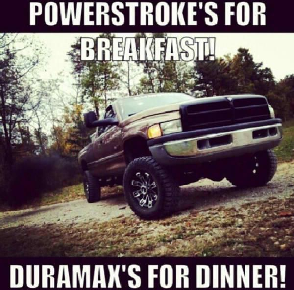 Cummins Powerstokes For Breakfast And Duramax S For