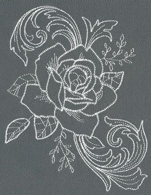 Chic Needlework - Rose Bloom design (UT12909) from UrbanThreads.com