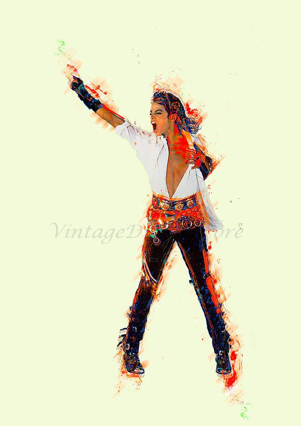 Michael Jackson Digital Poster, File Download for decor, photo printing on canvas, fabric or paper. by VintageDigitalStore on Etsy