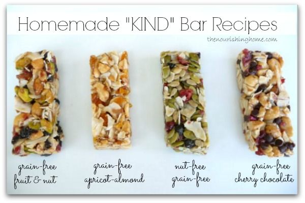 """Homemade """"KIND"""" Bar Recipes (GF).. This is a GODSEND. I tested these initially for my Shrinking On a Budget Meal Plan. My kids gobble the Kind bars and they are crazy expensive.  But they are pure health so who am I to argue?  I am hoping these will help save money.  I have made the dark chocolate and the fruit and nut.  Amazing!"""