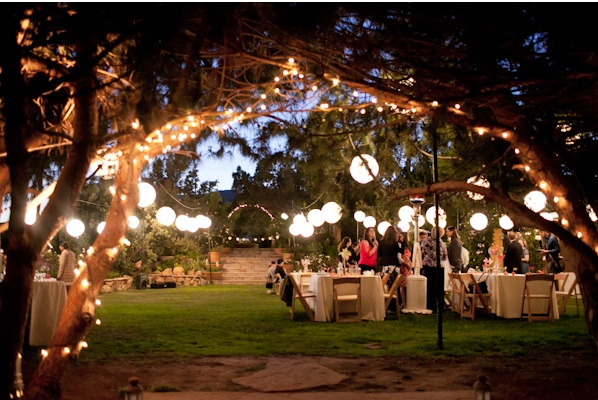 Outdoor party lighting pretty parties etc pinterest for Outside lighting ideas for parties