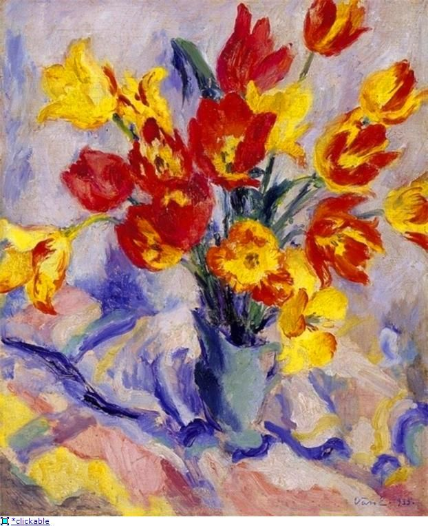 Цветы в живописи. Тюльпан.. — -KRASOTA-