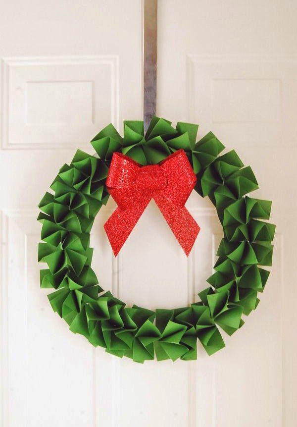 lodijoella: Haz una corona de navidad con papel