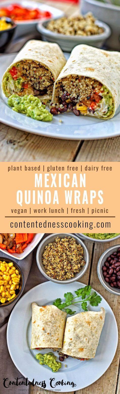 Mexican Quinoa Wraps | #vegan #glutenfree #contentednesscooking