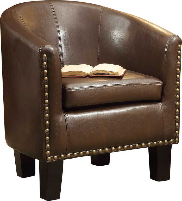 Features:  -Accented by rows of bronze nail heads that are meticulously applied by hand.  -Seat and back are padded with a high-density eco-friendly foam.  -Majestic grand solid legs made by birch woo