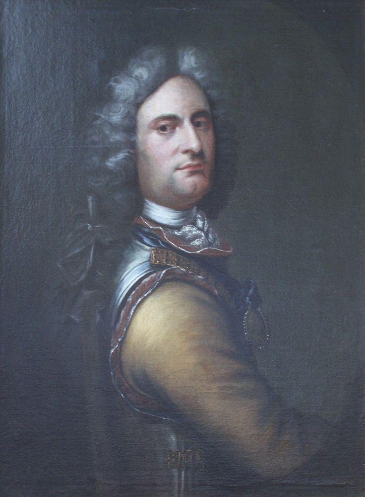 """Balthasar Denner (1685 - 1749), """"Portrait of Peder Tordenskjold"""". 1700-1855"""