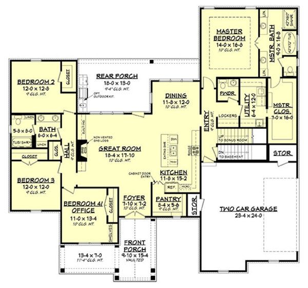 Modern Style House Plan 4 Beds 2 5 Baths 2373 Sq Ft Plan 430 184 Modern Style House Plans French Country House Plans New House Plans