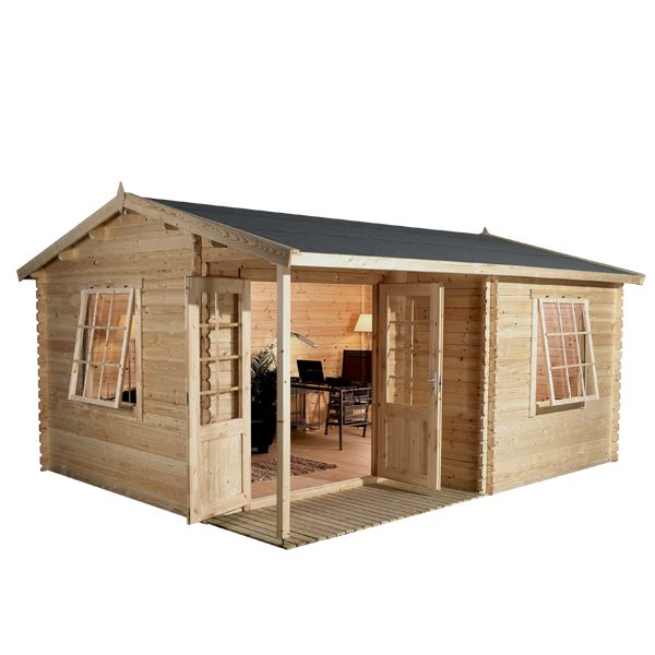 4m x 3m waltons greenacre home office executive log cabin on walton garden buildings