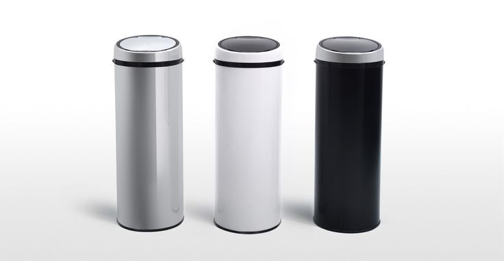 Sensé Bin, une poubelle automatique 50L, inox | made.com