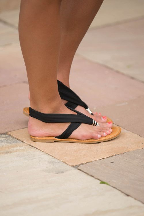 The Melissa Sandals Black