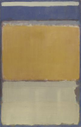 Mark Rothko The irregular patches of color characteristic of the artist's Multiform paintings of 1948 seem to have settled into place on this canvas, which Rothko divided horizontally into three dominant planes of color that softly and subtly merge into one another. Between 1949 and 1950 Rothko simplified the compositional structure of his paintings and arrived at this, his signature style.