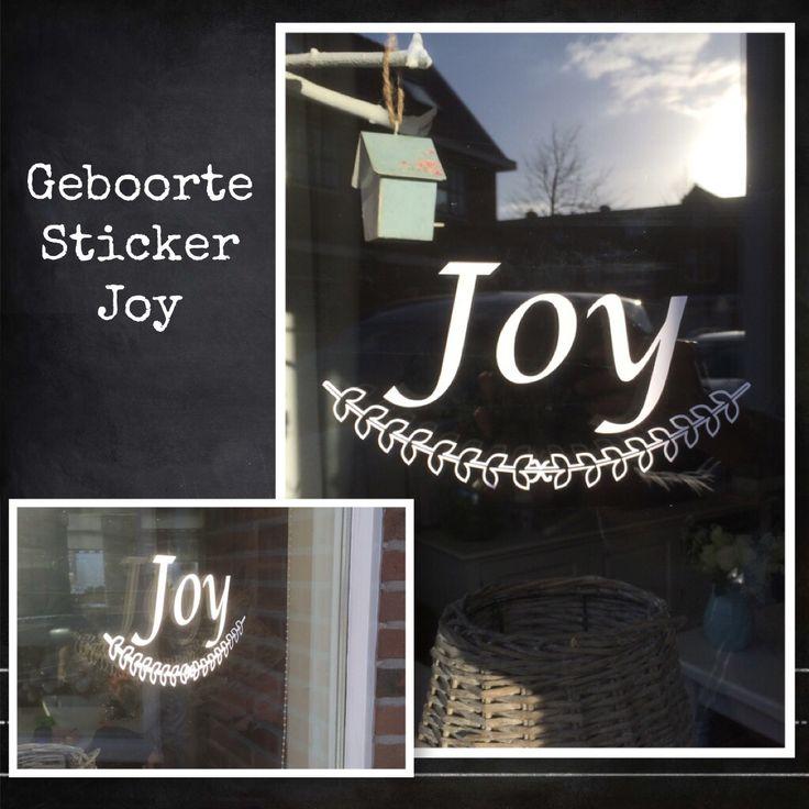 Geboorte sticker Joy. www.littlesissy.nl of info@littlesissy.nl