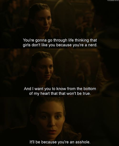 The Social Network - never watched it, but seriously, to all the boys out there, you know who you are!