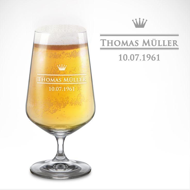 Wie wäre es mit einem kühlen Bier? Noch besser schmeckt die köstliche Hopfenkaltschale aus unserem Bierglas mit Gravur - Krone - Pilsglas personalisiert.