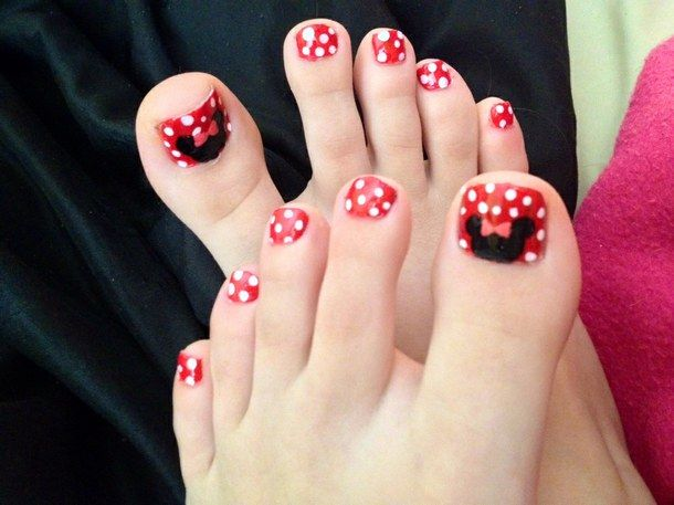 Mickey Mouse Toe Nail Designs Minnie Mouse Toe Nail Designs