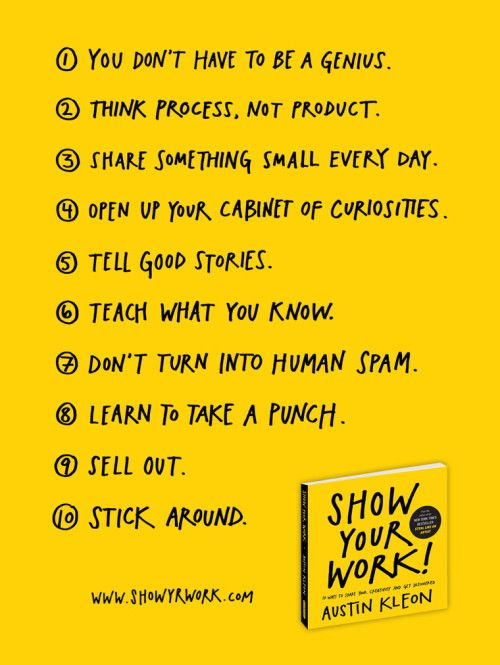 Show Your Work! by Austin Kleon.