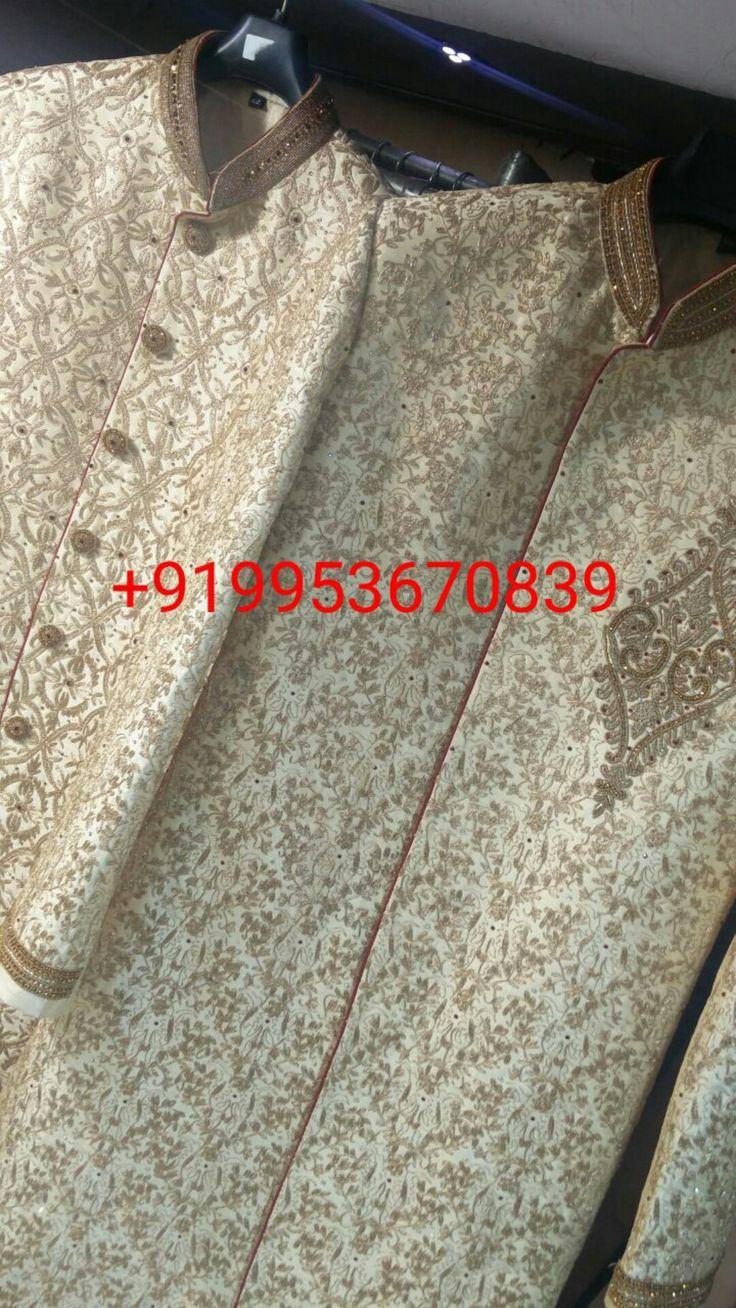 Men Groom Sherwani Designer wear 2018 With shawl , pagri & jooti mojari WhatsApp / dial : +919953670839 200+ Design Worldwide Shipping and Delivery