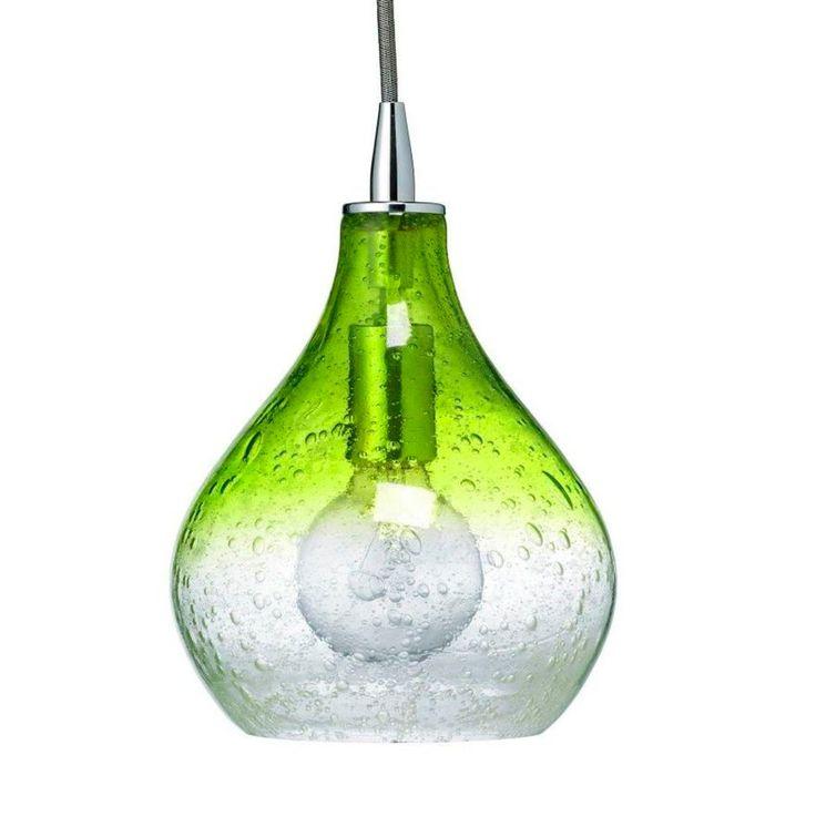 Teardrop Seeded Glass Pendant - Shades of Light