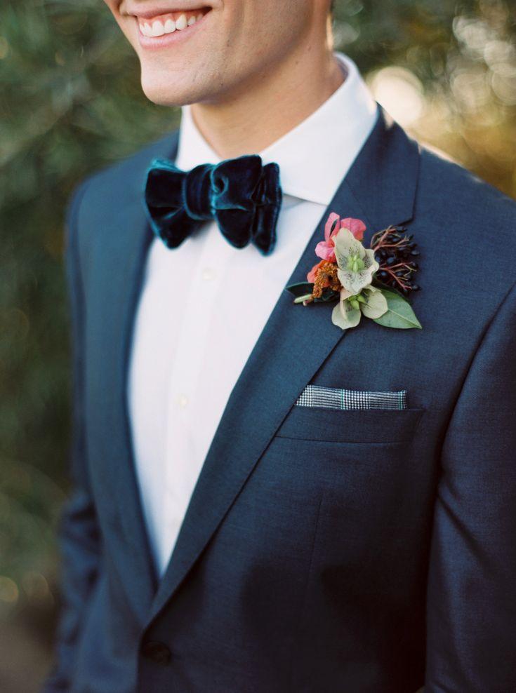 dapper groom | Photography: Sarah Kate - sarahkatephoto.com Velvet Bow Tie | Photography: Joshua Aull Photography - www.joshuaaull.com