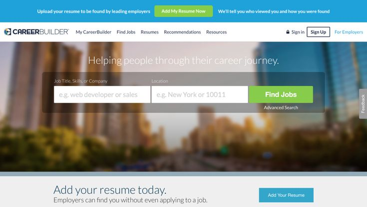 Career Builder- job board to check out Job Search Resources - careerbuilder resume search