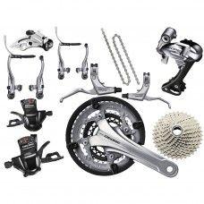 Shimano Deore Trekking Groupset V-Brake 3x10-speed - silver - www.store-bike.com