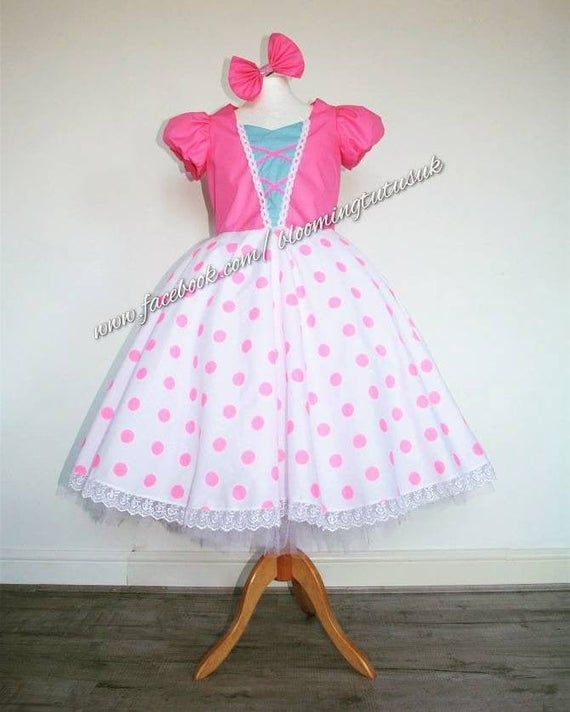 little bow peep ~  black /& pink tulle party dress