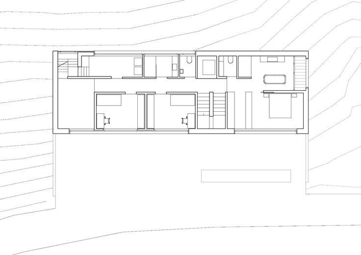 Grundriss Plan Querschnitt Haus Garate Flachdach   Wohngrundrisse    Pinterest   Querschnitt, Natursteine Und Flachdach