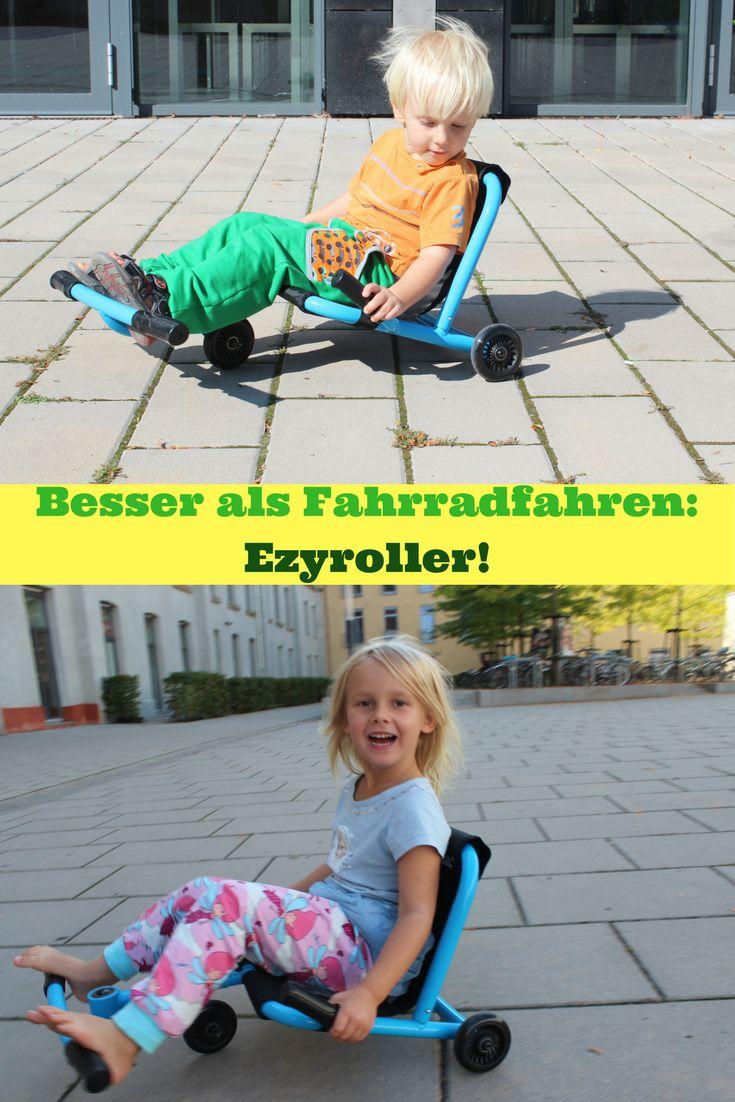 """Wie oft musste ich meine Süße überreden, dass wir statt mit dem Auto mit dem Fahrrad in den Kindergarten fahren. """"Keine Lust, langweilig, mir tun die Beine weh, bäh, bäh, bäh, ich mag nicht."""" Seit sie einen EzyRoller besitzt, ist meine Erziehungsarbeit sehr viel einfacher, ja, in der """"Wir steigen für kurze Strecken nicht ins Auto""""-Hinsicht sogar überflüssig geworden: Inzwischen nämlich fährt sie regelmäßig mit dem Ezyroller in den Kindergarten – und zurück."""