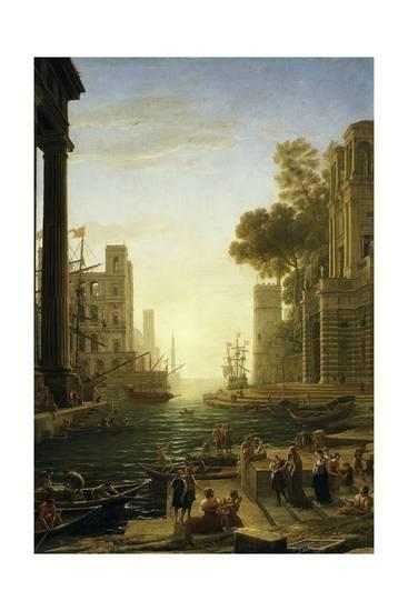 Landscape With The Embarkment Of Saint Paula Romana In Ostia 1639