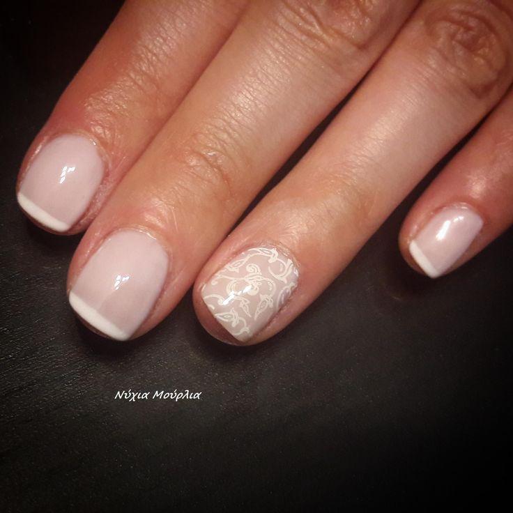 French nails~ stamping nails