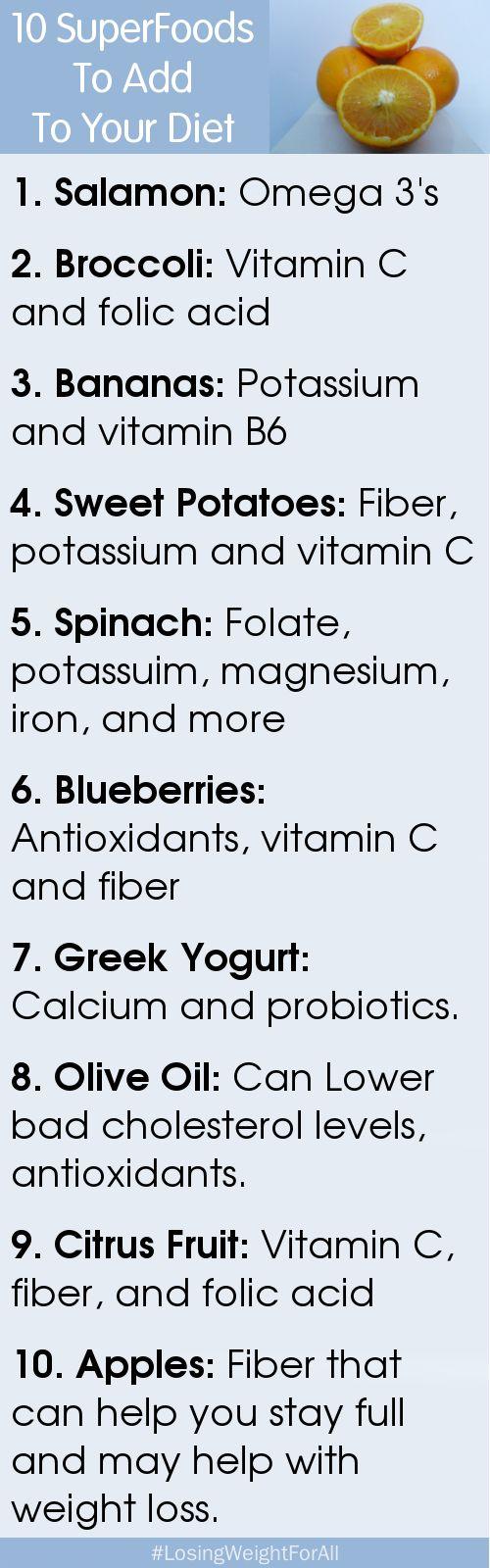10 SuperFoods Diet Plan