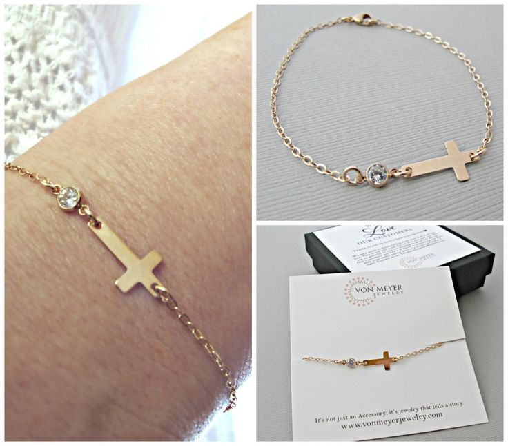 Rose Gold Cross Bracelet, sideways cross bracelet, cross bracelet, sideways cross bracelet, cross bracelet, sideway cross bracelet