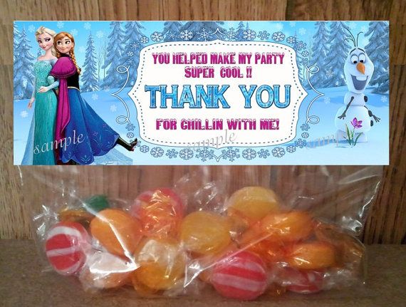 Disney Frozen Treat Bag Toppers  INSTANT by LetsPartyShoppe, $2.50