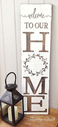 Willkommen in unserem Home Porch Sign