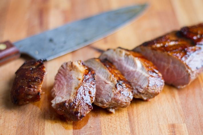 Pork tenderloin receives an Asian twist with sweet and salty hoisin sauce. A flavorful, tender cut of meat, this Sous Vide Hoisin-Glazed Pork Tenderloin is perfect over rice or noodles, or in a bowl of ramen.