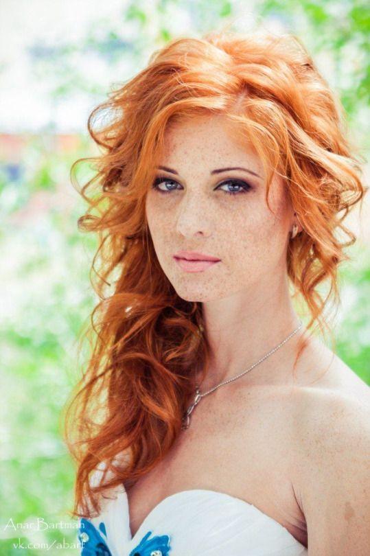 redhead tall freckles