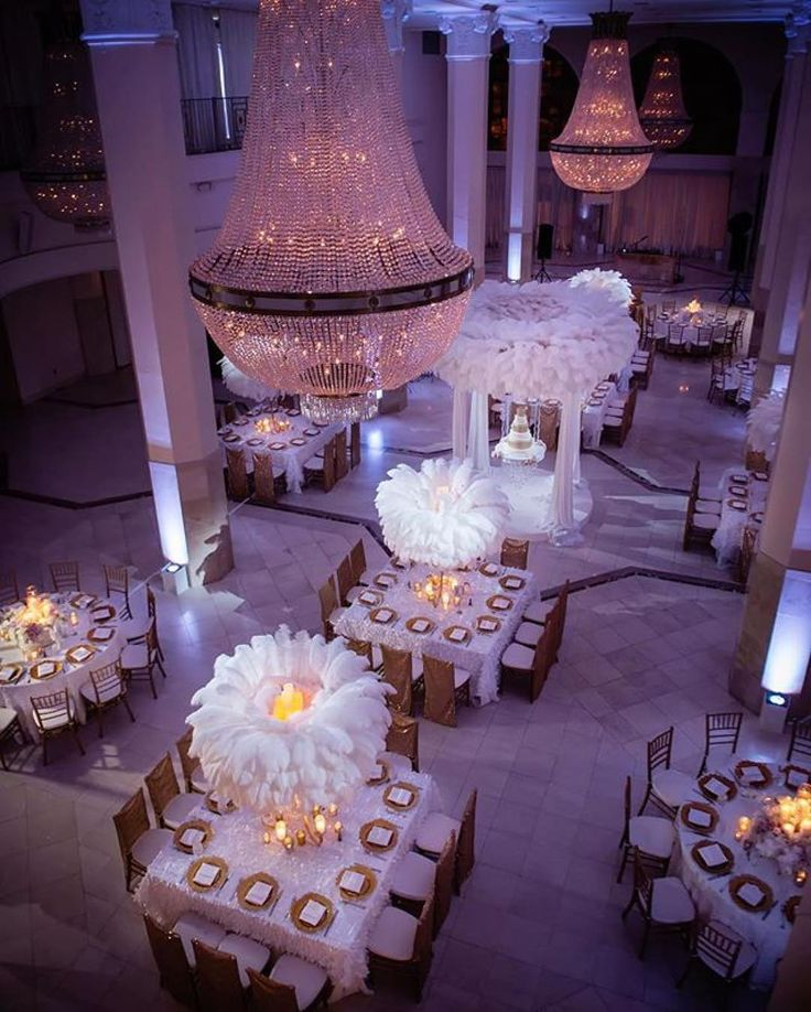 Loved the reception decor in this #wedding featured in the #munafw16 issue. So pretty! // #Repost @ellybevents  Candles in these feather halos was the perfect way to change up the feather centerpiece look. @milanesphotography #ebweds