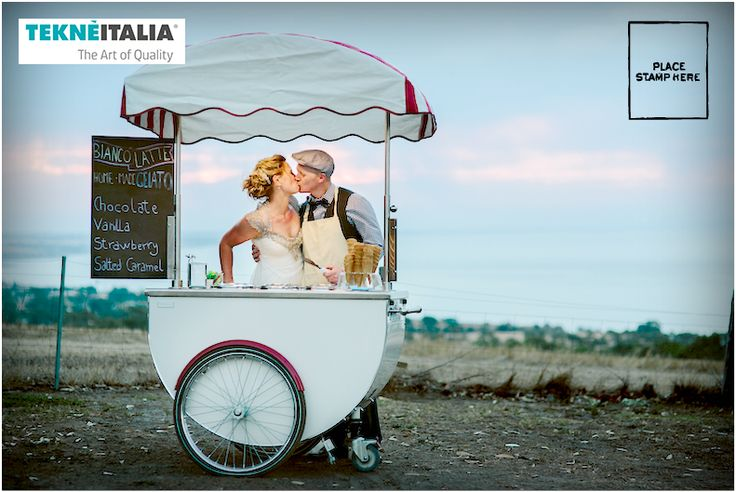 #Wedding in Australia with Bianco Latte Gelateria (our customer) and our #italian #icecream cart Katerina model Wedding Ice Cream Cart for reception or after ceremony, for summer weddings, etc..