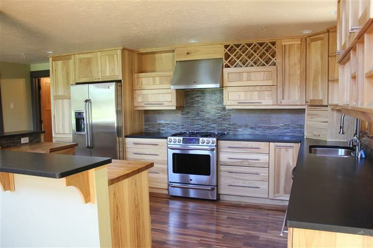 kitchen in a cabinet 65 best hickory cabinets and images on 21776