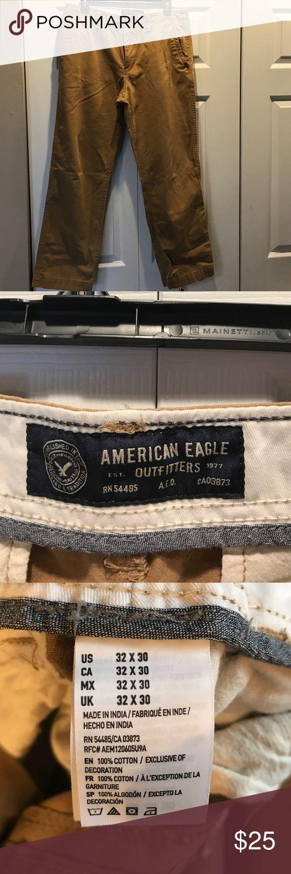 American Eagle Men's khaki pants size 32x30 Gently used American eagle men's khaki pants size 32x30. American Eagle Outfitters Pants Chinos & Khakis