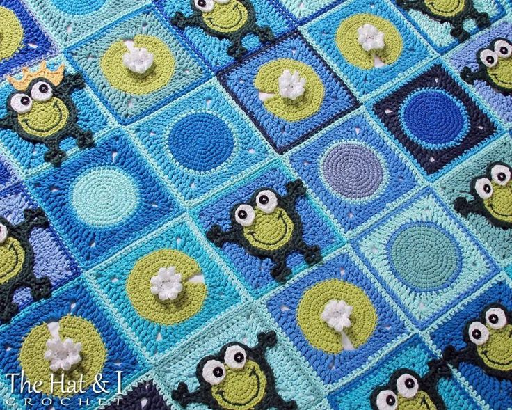 Frog Frenzy - a HoPpY frog blanket | Craftsy