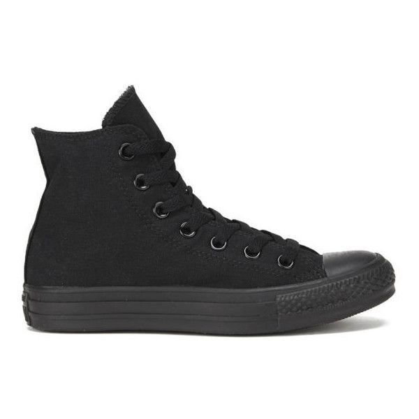 Converse Chuck Taylor All Star Canvas Hi-Top Trainers - Black... found on Polyvore