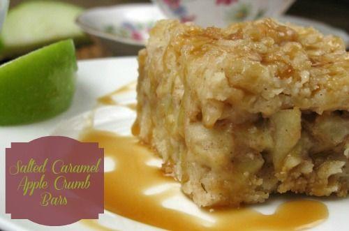 Salted Caramel Apple Crumb Bars - Shortbread crust , caramel apple ...