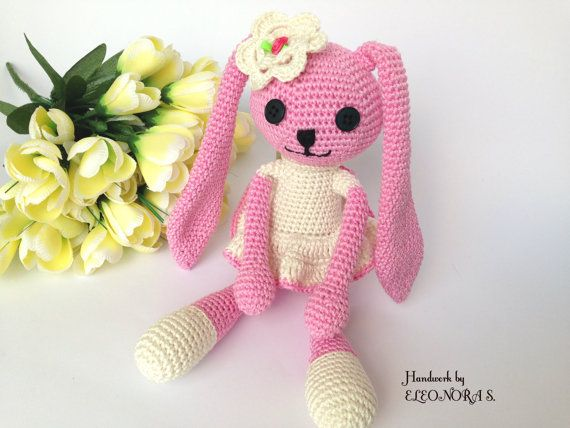 Bunny crochet amigurumi stuffed soft  toy doll by ILoveAmigurumi