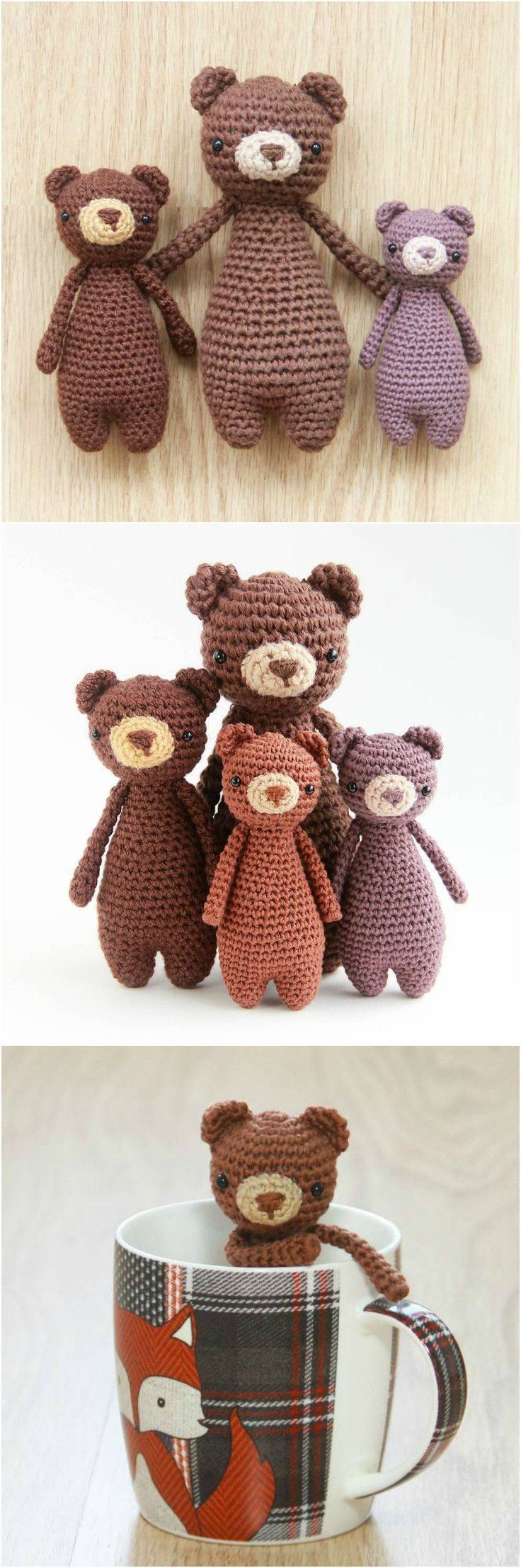 Mini Bear crochet pattern by Little Bear Crochets: www.littlebearcrochets.com  #littlebearcrochets #amigurumi