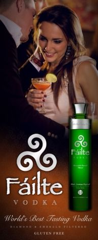 Failte Vodka is in FACT The World's Best Tasting Vodka! Why Settle for less? Being a potato vodka Failte Vodka is GLUTEN FREE.  FAILTE VODKA...